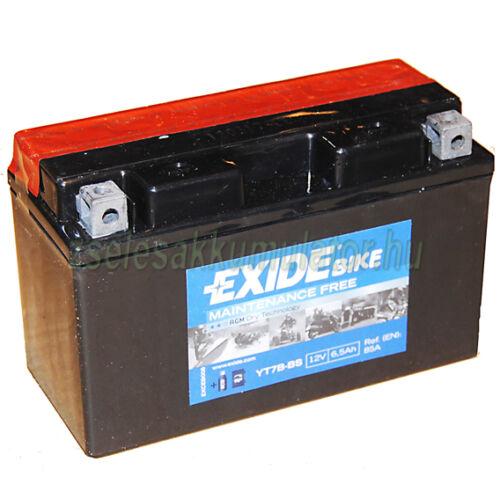 Exide ET7B-BS (YT7B-BS) 12V 6,5Ah gondozásmentes AGM (zselés) motor akkumulátor