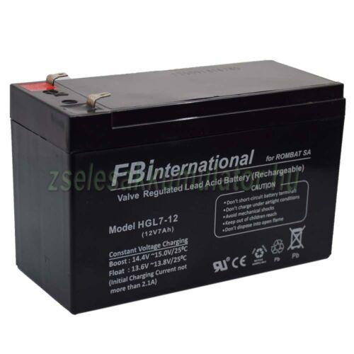 FBinternational 12V 7Ah zselés akkumulátor T1