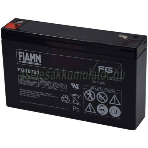 FIAMM 6V 7,2Ah Zselés akkumulátor FG10721