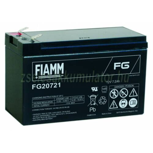 Fiamm 12V 7,2Ah FG20721