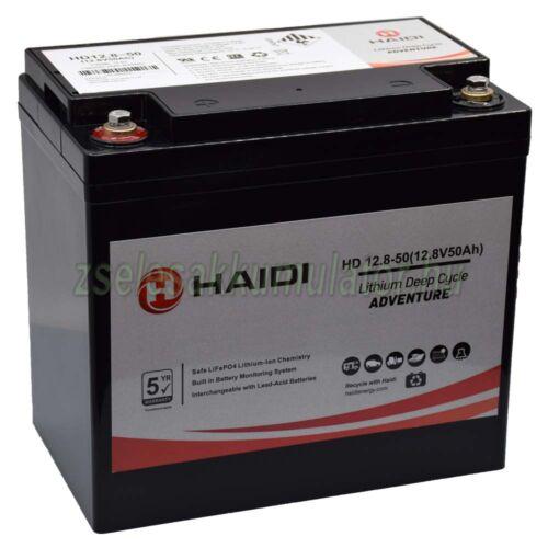 HAIDI 12V 50Ah ciklikus Lítium akkumulátor