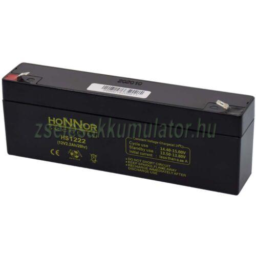 Honnor Security 12V 2,2Ah zselés akkumulátor