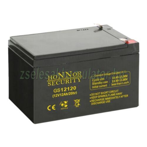 Honnor Security 12V 12Ah zselés akkumulátor