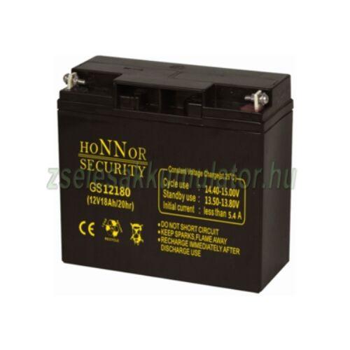 Honnor Security 12V 18Ah zselés akkumulátor