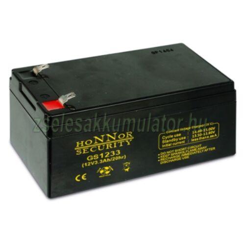 Honnor Security 12V 3,3Ah zselés akkumulátor