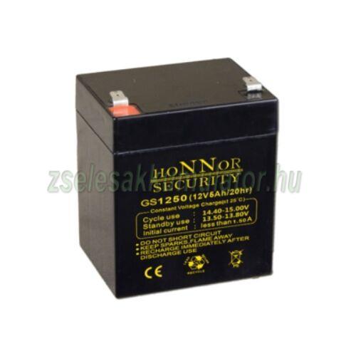 Honnor Security 12V 5Ah zselés akkumulátor