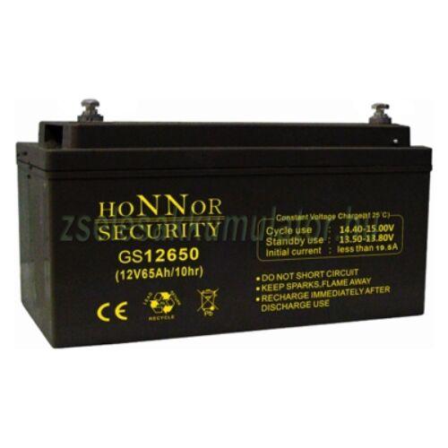 Honnor Security 12V 65Ah zselés akkumulátor