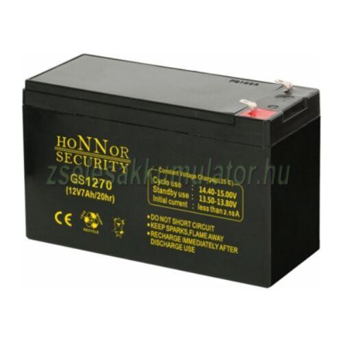 Honnor Security 12V 7Ah zselés akkumulátor