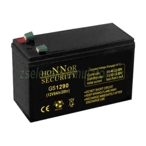 Honnor Security 12V 9Ah zselés akkumulátor
