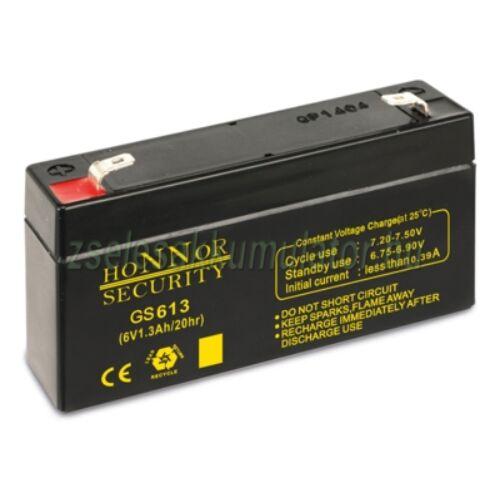Honnor Security 6V 1,3Ah zselés akkumulátor