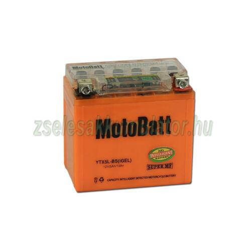 MotoBatt IGEL YTX5L-BS I-GEL 12V 5Ah Motor akkumulátor