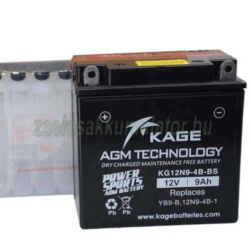 KAGE 12N9-BS (KG12N9-4B-BS) 12V 9Ah Motor akkumulátor