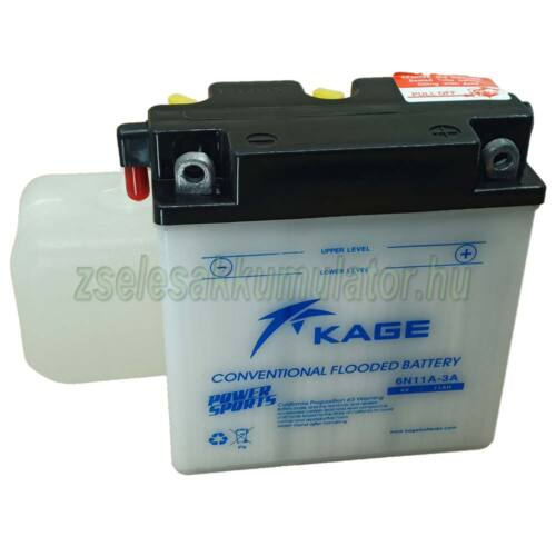 Kage 6N11A-3A motor akkumulátor 6V 11Ah