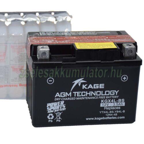 Kage YTX4L-BS KGX4L-BS motor akkumulátor