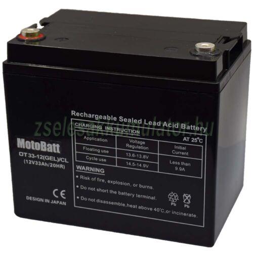 MotoBatt 12V 33Ah Ciklikus Zselés Akkumulátor OT33-12