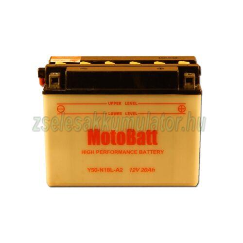MotoBatt Y50N18L-A2 (sav csomagos) 12V 20Ah Motor akkumulátor