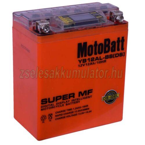 MotoBatt IGEL YB12AL-BS I-GEL (YB12AL-A2) 12V 12Ah Motor akkumulátor