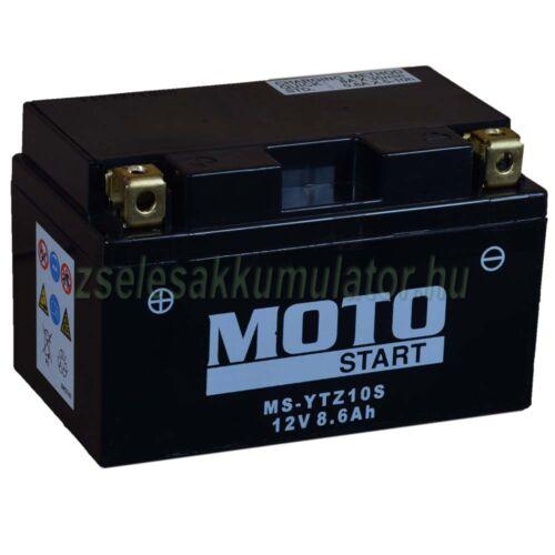 MotoSTART YTZ10S 12V 8,6Ah gondozásmentes AGM (zselés) motor akkumulátor