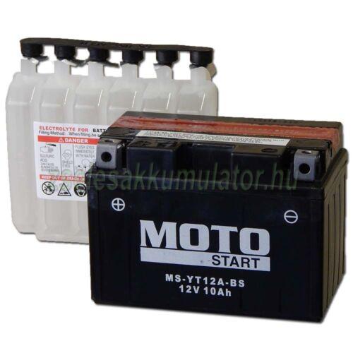 MotoSTART YT12A-BS 12V 9,5Ah gondozásmentes AGM (zselés) motor akkumulátor