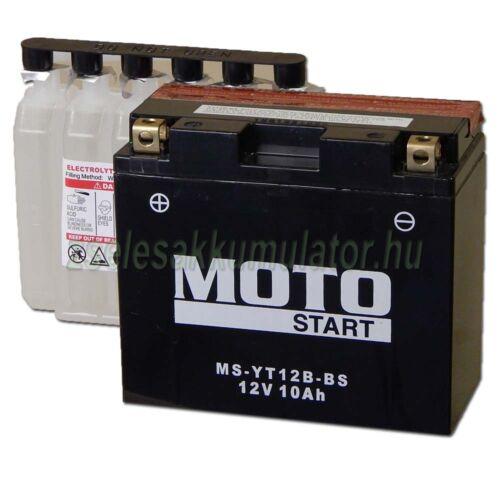 MotoSTART YT12B-BS 12V 10Ah gondozásmentes AGM (zselés) motor akkumulátor