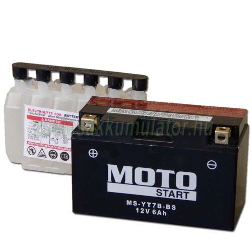 MotoSTART YT7B-BS 12V 6,5Ah gondozásmentes AGM (zselés) motor akkumulátor