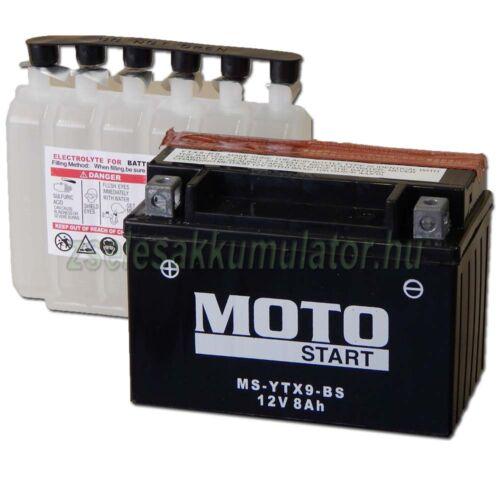 MotoSTART YTX9-BS 12V 8Ah gondozásmentes AGM (zselés) motor akkumulátor