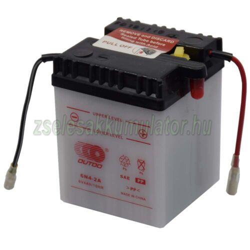 Outdo 6N4-2A 6V 4Ah Motor akkumulátor