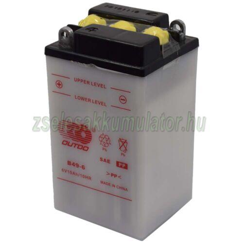 Outdo  B49-6 6V 10Ah Motor akkumulátor