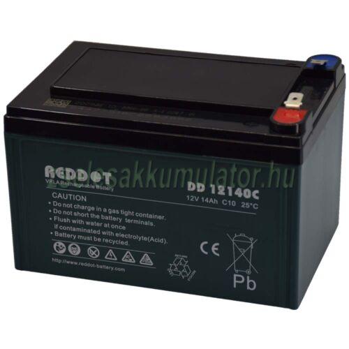 Reddot 12V 14Ah Ciklikus zselés akkumulátor elektromos kerékpárba DD12140C