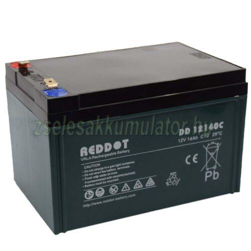 RedDot 12V 14Ah Ciklikus zselés akkumulátor elektromos kerékpárba