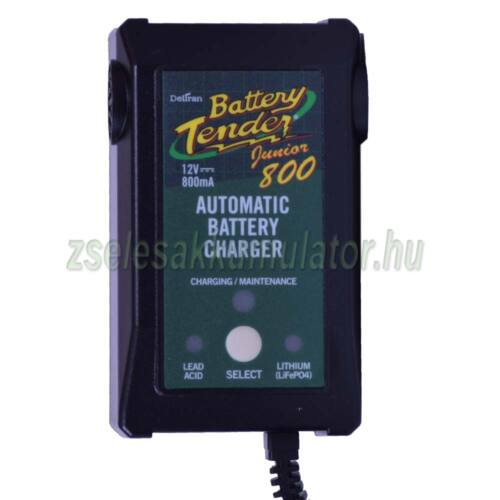 Battery Tender Junior 800, Zselés, ólom savas, AGM, Líthium akkumulátor töltő 12V 0,8A töltőáram