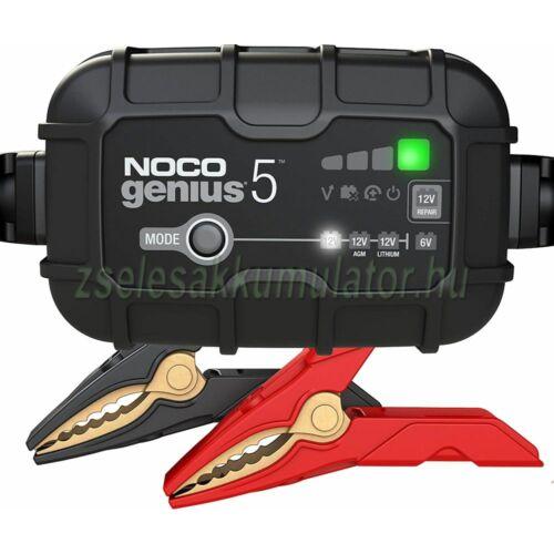 NOCO Genius 5 automata lithium-ion töltő 6V / 12V-5A