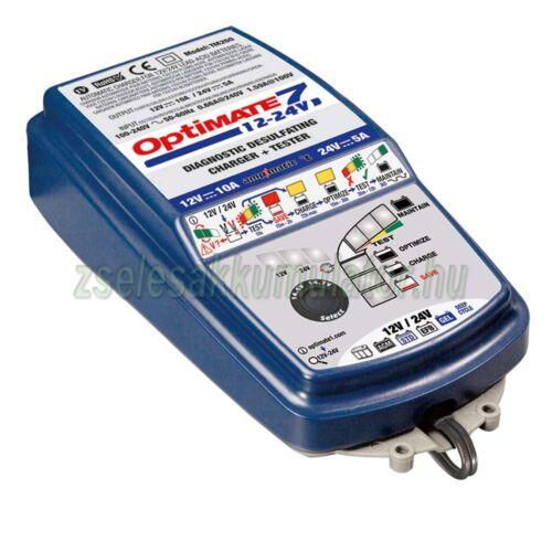 TecMate Optimate 7 12V 24V akkumulátor töltő