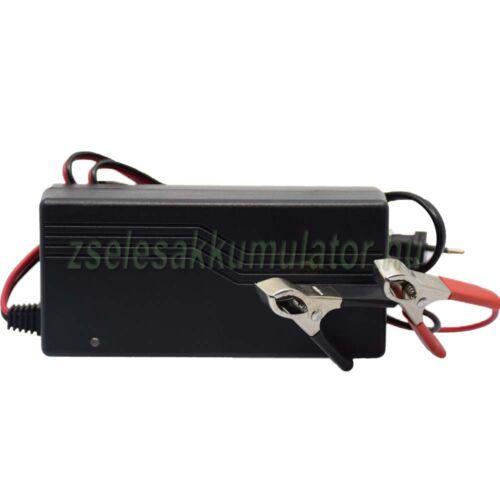 48V 3A zselés akkumulátor töltő csipeszes