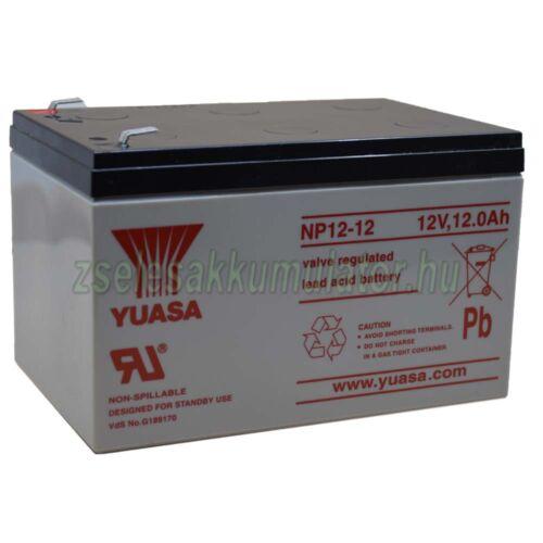 Yuasa 12V 12Ah Zselés akkumulátor NP12-12