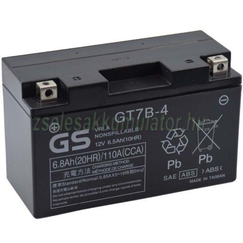 Yuasa YT7B-4 (GT7B-4) 12V 6,8Ah gondozásmentes AGM (zselés) motor akkumulátor