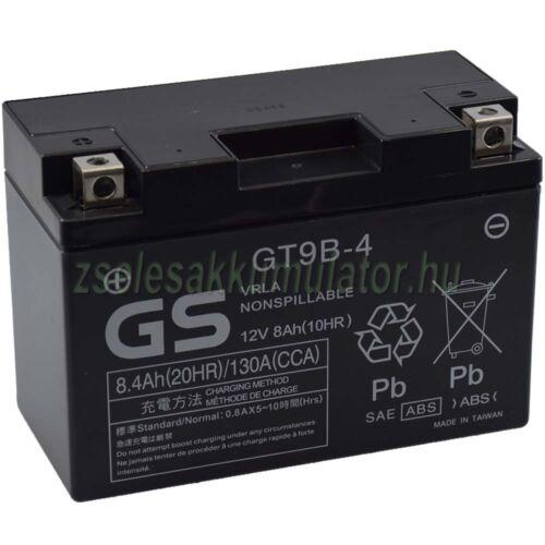 Yuasa YT9B-4 (GT9B-4) 12V 8,4Ah gondozásmentes AGM (zselés) motor akkumulátor