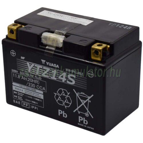 Yuasa YTZ12S 12V 11,6Ah gondozásmentes AGM (zselés) motor akkumulátor