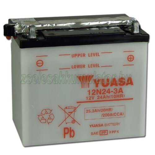Yuasa 12N24-3A 12V 24Ah Motor akkumulátor
