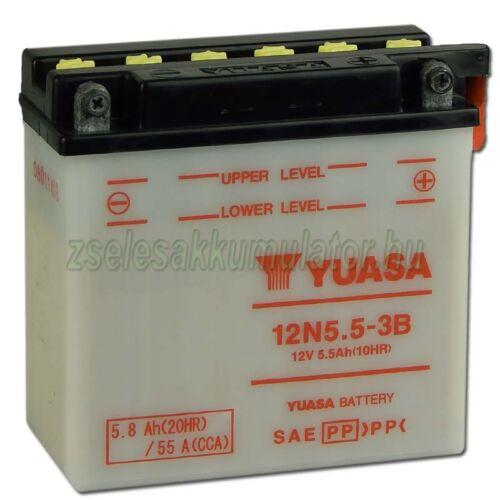 Yuasa12N5,5-3B 12V 5,5Ah Motor akkumulátor
