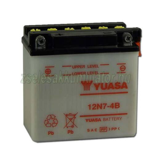 Yuasa12N7-4B 12V 7Ah Motor akkumulátor