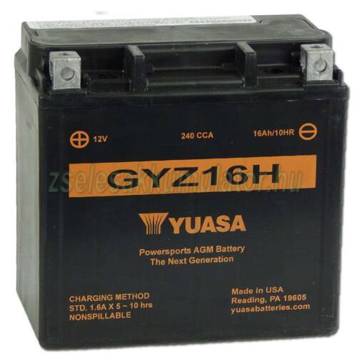 Yuasa GYZ16H 12V 16Ah gondozásmentes AGM (zselés) motor akkumulátor