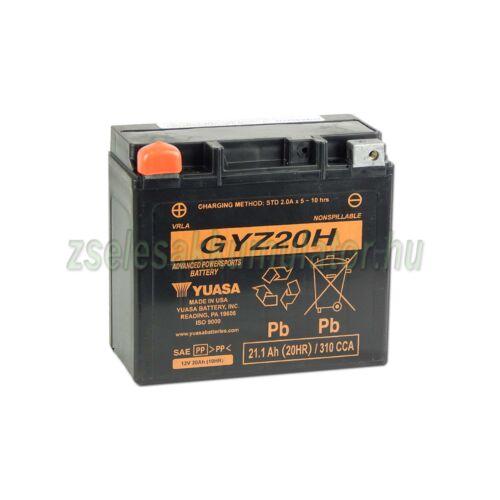 Yuasa GYZ20H 12V 20Ah gondozásmentes AGM (zselés) motor akkumulátor