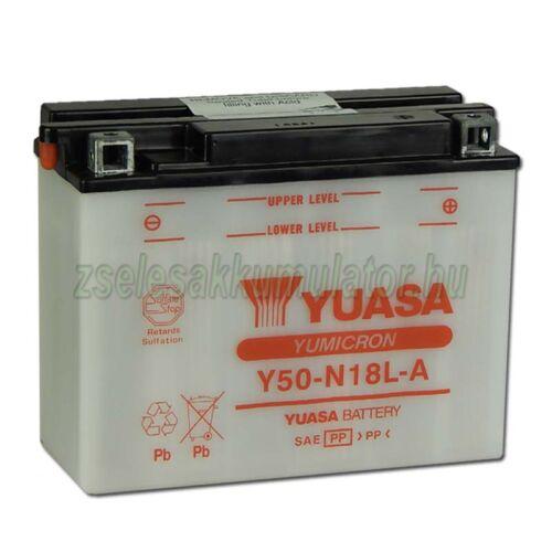 Yuasa Y50-N18L-A 12V 20Ah Motor akkumulátor