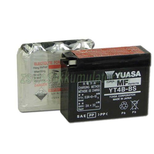 Yuasa YT4B-BS 12V 2,3Ah gondozásmentes AGM (zselés) motor akkumulátor