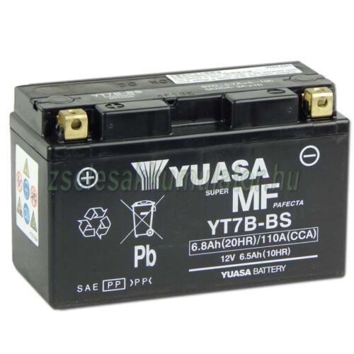 Yuasa YT7B-BS 12V 6,5Ah gondozásmentes AGM (zselés) motor akkumulátor