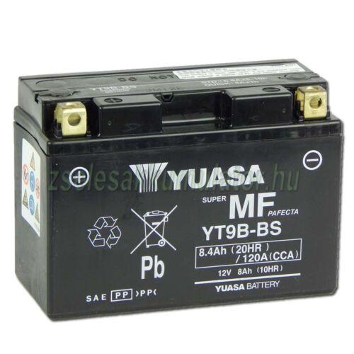 Yuasa YT9-BS 12V 8Ah gondozásmentes AGM (zselés) motor akkumulátor