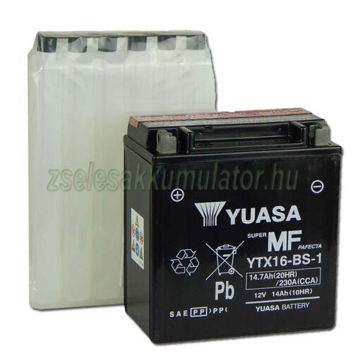 Yuasa YTX16-BS 12V 14Ah gondozásmentes AGM (zselés) motor akkumulátor