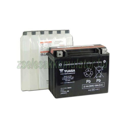 Yuasa YTX24HL-BS 12V 21Ah gondozásmentes AGM (zselés) motor akkumulátor