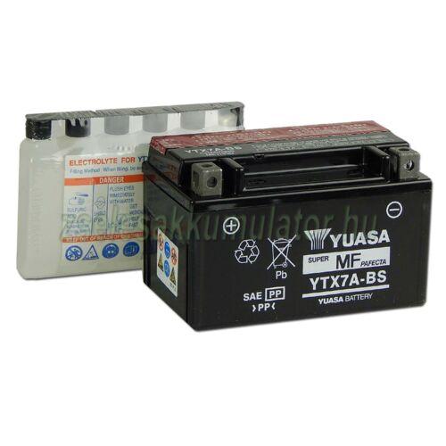 Yuasa YTX7A-BS 12V 6Ah gondozásmentes AGM (zselés) motor akkumulátor
